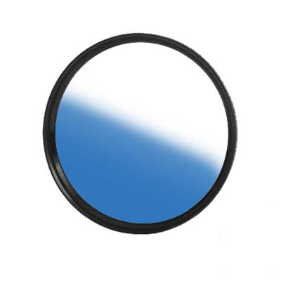Blau Verlaufsfilter